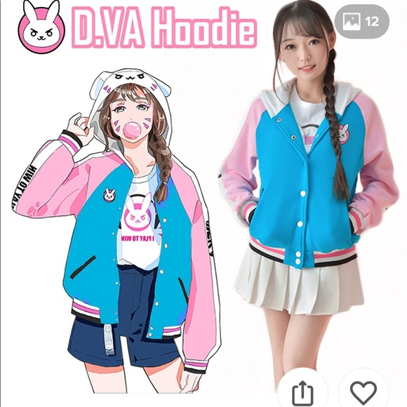 35b1a9aff OverWatch D.Va Bomber Style Hoodie Size XL